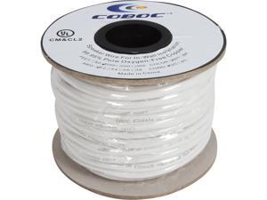 Coboc Model SPW-CL2-2C12-100-WH 100ft 12AWG CL2 Rated 2-Conductor Enhanced Loud Oxygen-Free Copper OFC Speaker Wire Cable (For In-Wall Installation)