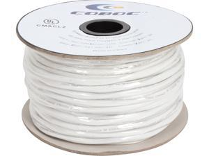 Coboc Model SPW-CL2-2C12-250-WH 250ft 12AWG CL2 Rated 2-Conductor Enhanced Loud Oxygen-Free Copper OFC Speaker Wire Cable (For In-Wall Installation)