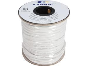 Coboc Model SPW-CL2-4C12-100-WH 100ft 12AWG CL2 Rated 2-Conductor Enhanced Loud Oxygen-Free Copper OFC Speaker Wire Cable (For In-Wall Installation)