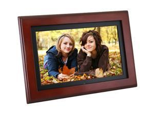 """Matsunichi PF1009M 10"""" Widescreen 10"""" 800 x 480 TRUE DIGITAL Cherry Digital Picture Frame"""