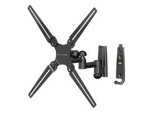 "Level Mount AISTA Matte Black Powder-Coat Finish 10"" - 32"" Dual Arm Full Motion Mount, VESA 400, max load 45lbs"