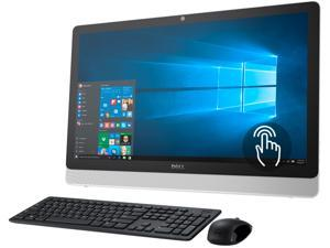 "DELL All-in-One Computer Inspiron i3455-8041WHT A6-Series APU A6-7310 (2.00 GHz) 4 GB DDR3L 1 TB HDD 23.8"" Touchscreen Windows 10 Home"