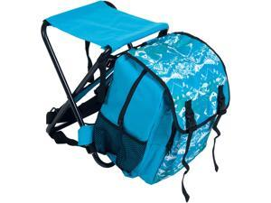 Stalwart Folding Stool and Backpack Combo - Blue