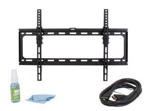 "Fino FT-64K2 Black 30"" - 60"" Tilt Universal Mounting Kit, VESA 600x400, Max load 100 lbs, w/ HDMI Cable, Screen Cleaner"