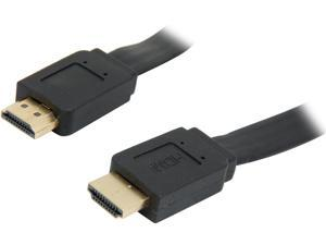 SYBA CL-CAB31039 15ft HDMI Flat Cable, V1.4, Supports 3D & 4K Resolution, Gold Plated Connector M-M