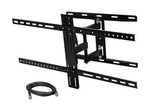 "Rosewill RHTB-16001 37"" - 65"" LCD LED TV Low Profile Tilt & Swivel Wall Mount with 6 ft. HDMI cable, Max. Load 100 lbs., VESA Max 800x400mm, Black, Compatible with Samsung, Vizio, Sony, Panasonic TV"