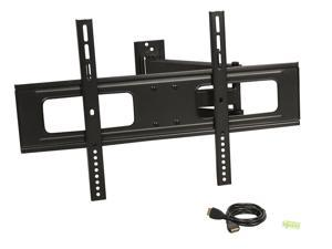 "RRosewill RHTB-17001 37"" - 70"" LCD LED TV Wall Mount with 6 ft. 4K HDMI Cable, Max. Load 110 lbs., Max VESA 600x400 mm, Black, Compatible with Samsung, Vizio, Sony, Panasonic, LG and Toshiba TV"