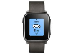 Pebble 511-00024 Time Steel Smartwatch for Apple and Android Devices Black