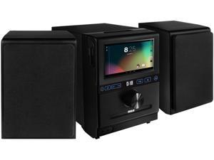 RCA RCS13101E Home Stereo System with Removable 7-inch Android Tablet and Two 20 Watt Bluetooth Speakers