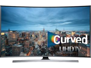 """Samsung - 48"""" Class (54.6"""" Diag.) - LED - Curved - 2160p - Smart - 3D - 4K Ultra HD TV - Silver"""