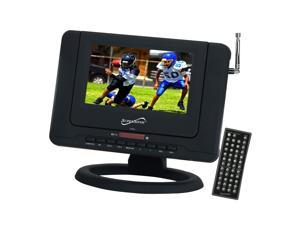 "SUPERSONIC SC-491 7"" Black Portable TV with Built-In ATSC Tuner & DVD Player"