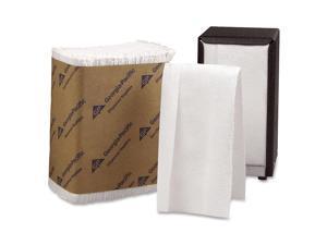 Georgia Pacific 33201 Tall Fold Dispenser Napkins, One-Ply, 7 x 13-1/2, White, 10000/Carton