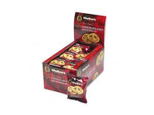 Office Snax                              Walker's Shortbread Cookies, Chocolate Chip, 2 Cookies/Pack, 24 Packs/Box