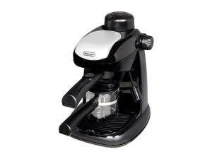 DeLonghi Black EC5 Steam-Driven 4 Cup Espresso and Cappuccino Maker