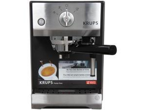 KRUPS XP5220 Precise Tamp Espresso Machine Silver/Black