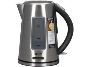 KRUPS BW3990 Prelude Electric Kettle with Blue Lighting Water Level Indicator and Stainless Steel Housing, Silver