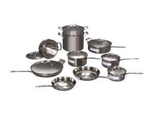 Cuisinart 美膳雅  77-17 Chef's Classic Stainless 17-Piece Cookware Set