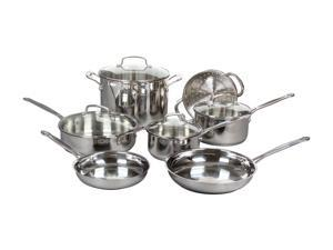Cuisinart 77-11G 11-Piece Chef's Classic Cookware Set, Stainless Steel