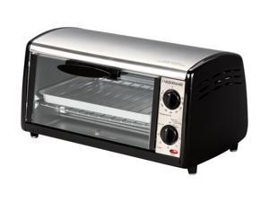 FARBERWARE FTO320SS Black & Silver 4 Slice Toaster Oven Broiler