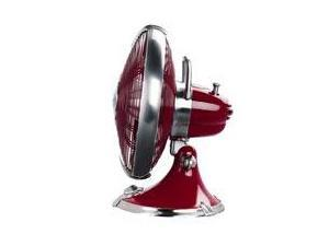 "Hunter 90043 12"" Oscillating Table Fan  Victory Red"