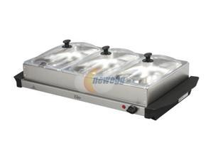 Elite EWM6171 Elite Platinum 3-Tray 2.5-Quart Stainless Steel Buffet Server & Warmer