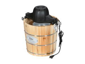 MAXI-MATIC EIM-502 Elite Gourmet Old Fashioned Pine Bucket Electric/Manual Ice Cream Maker