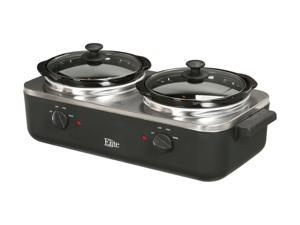 Maxi-Matic EWMST-22 Black Dual Slow Cooker Buffet