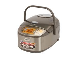 ZOJIRUSHI NP-HTC10XJ Stainless Brown Induction Heating Pressure Rice Cooker & Warmer