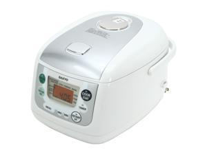 SANYO ECJ-HC55S White and Gray 5.5-Cup Micom Rice & Slow Cooker