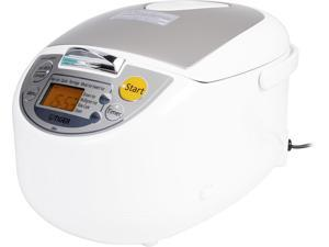 Tiger JBA-T10U Micom Rice Cooker with Food Steamer & Slow Cooker, White, 11 Cups Cooked/5.5 Cups Uncooked