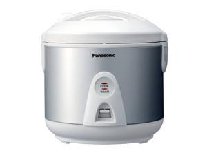 Panasonic SR-TEG10 Silver/White 5 Cup (Uncooked)/10 Cup (Cooked) Rice Cooker/Warmer/Steamer w/ Domed Lid