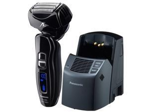 Panasonic ES-LA93-K Arc 4 Multi Flex Dual-Motor Wet/Dry Nanotech Rechargeable Shaver with Vortex Cleaning System, Black