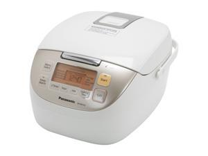 Panasonic SR-MS103 White Microcomputer Controlled Fuzzy Logic Rice Cooker 5-Cup Uncooked/10-Cup Cooked