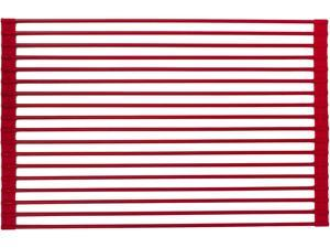 True & Tidy DR-881 Red Roll-Up Drying Rack Red
