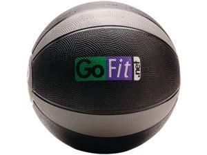 GoFit GF-MB12 Medicine Ball & Core Performance Training DVD (12 Lbs&#59; Black & Gray)