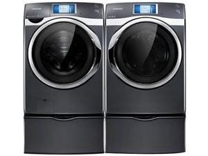 Samsung 457W-W-ED-2-KIT Neat White 4.5 Cu. Front Load Washer & 7.5 Cu. Ft. Electric Dryer w/ 8 In. Touch LCD Screen