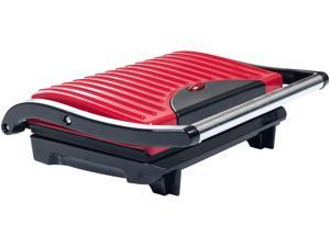 Chef Buddy 82-SW100 Red Non-Stick Grill and Panini Press