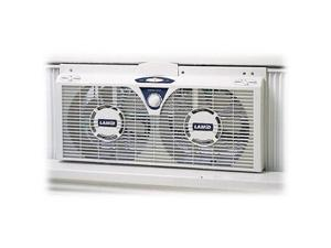 "Lasko 2138 Twin Window Mount Fan - 6 Blades - 203mm Diameter - 2 Speed - Removable Grill - 12"" Height x 25"" Width x 5.25"" Depth"
