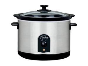 West Bend 85156 Stainless Steel 6 Qt. Round Crockery Cooker
