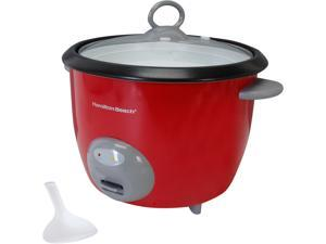 Hamilton Beach 37538N Red 20 Cup Capacity Rice Cooker