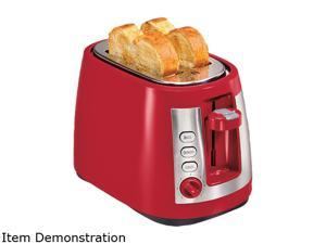 Hamilton Beach  22812  Red  2 Slice Keep Warm Mode Cool Wall Toaster