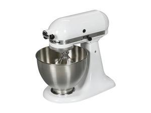 KitchenAid K45SSWH Classic 250-Watt 4-1/2-Quart Stand Mixer (White)
