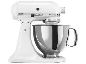 KitchenAid KSM150PSWH Artisan Stand Mixer with Pouring Shield, 5 Quarts, White