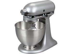 KitchenAid KSM75SL Classic Plus Series 4.5-Quart Tilt-Head Stand Mixer Silver