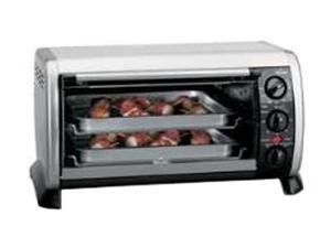 RIVAL 6 Slice Black And Stainless Convection Counter Top Oven CO602