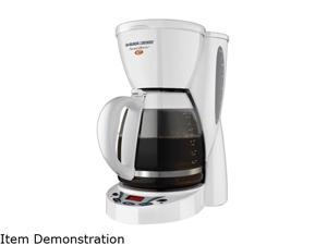 Black & Decker DCM2500 White 12-Cup SmartBrew Plus Programmable Coffeemaker