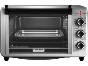 Black & Decker TO3210SSD Silver Countertop Convection Toaster Oven, Silver