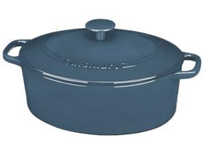 Cuisinart CI755-30BG Chef's Classic Enameled Cast Iron 5-1/2-Quart Oval Covered, Provencal Blue