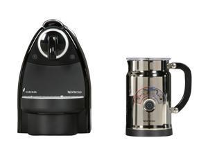 Nespresso Essenza C101 Espresso Maker w/ Aeroccino Bundle Piano Black