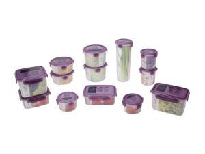 Lock&Lock ZZF120V13 0.05g BPA free Airtight container 26Piece set / 13containers Violet